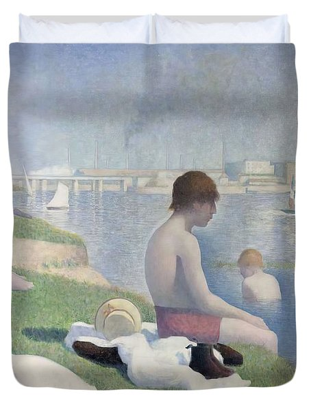 Bathers At Asnieres Duvet Cover