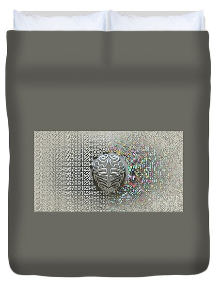 Left And Right Brain Concept Duvet Cover