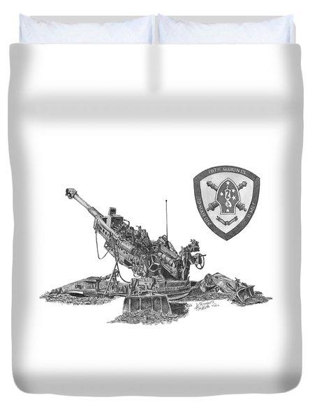 10th Marines 777 Duvet Cover