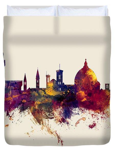 Florence Italy Skyline Duvet Cover