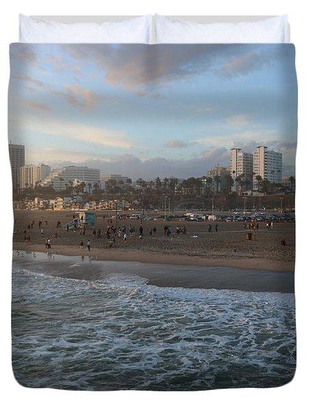 Pacific Sunset , Santa Monica, California Duvet Cover