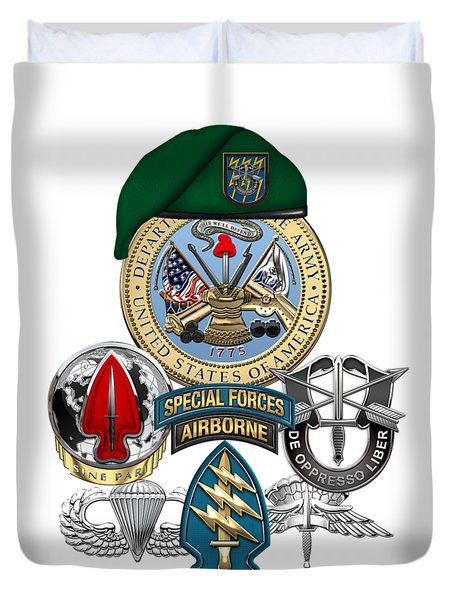 12th Special Forces Group - Green Berets Special Edition Duvet Cover