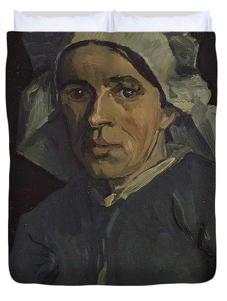 Head Of A Woman Duvet Cover