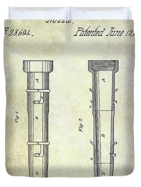 1860 Fire Hose Nozzle Duvet Cover