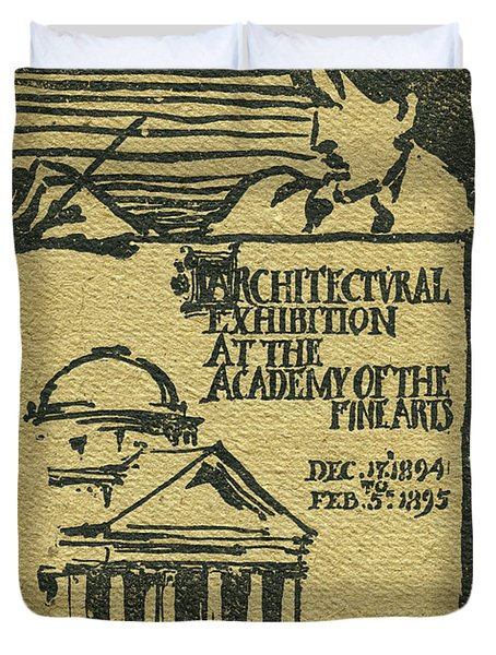 1894-95 Catalogue Of The Architectural Exhibition At The Pennsylvania Academy Of The Fine Arts Duvet Cover