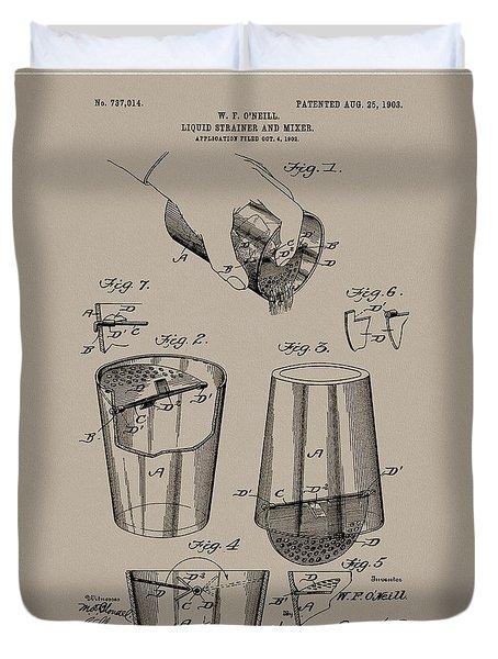 1903 Drink Mixer Patent Duvet Cover