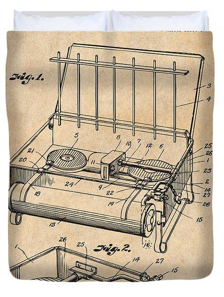 1924 Coleman Camp Stove Antique Paper Patent Print Duvet Cover