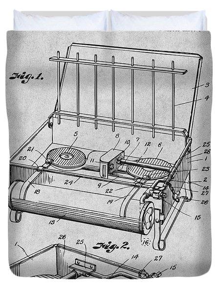 1924 Coleman Camp Stove Gray Patent Print Duvet Cover