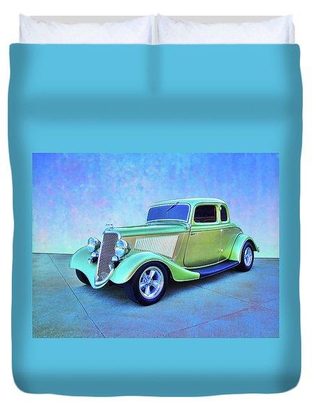 1934 Green Ford Duvet Cover