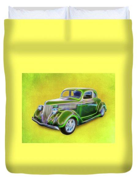 1936 Green Ford Duvet Cover