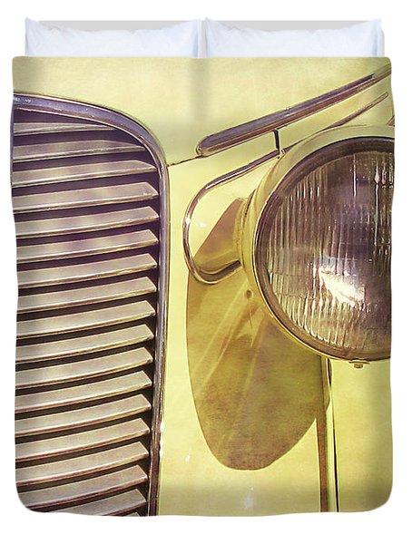 1937 Dodge Gritty Duvet Cover