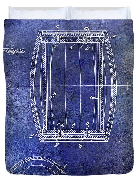 1937 Whiskey Barrel Patent Duvet Cover