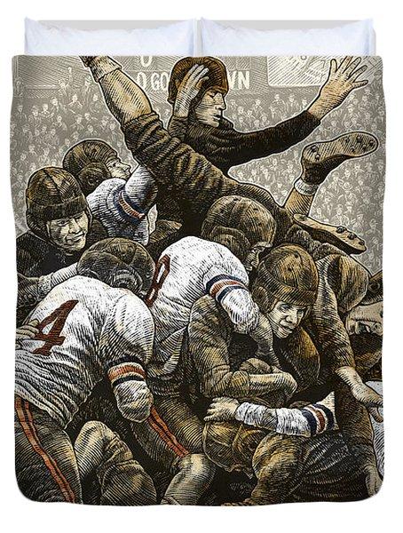 1940 Chicago Bears Duvet Cover