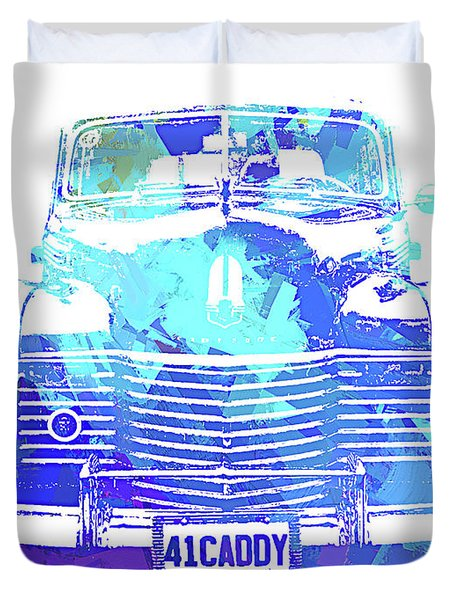 1941 Cadillac Front Abs Blue Duvet Cover