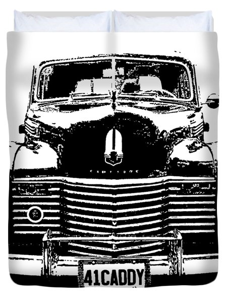 1941 Cadillac Front Blk Duvet Cover