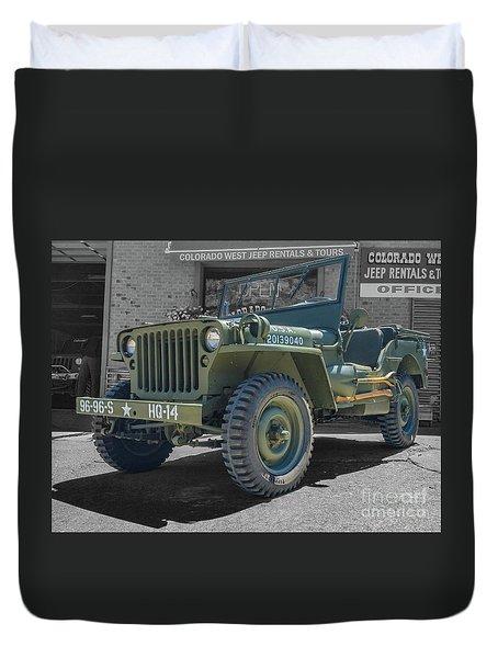 1942 Willys Gpw Duvet Cover