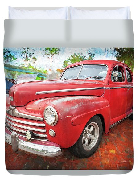 1947 Ford Super Deluxe Coupe 001 Duvet Cover
