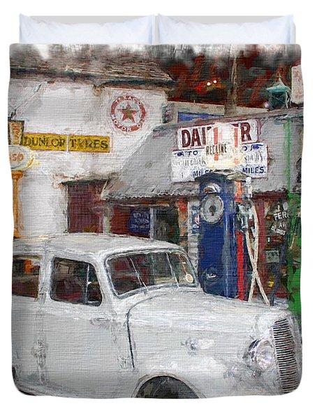 1950s Garage Duvet Cover