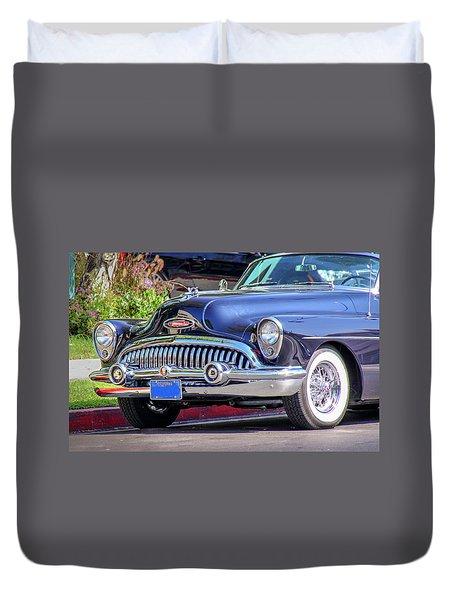 1953 Buick Skylark - Chrome And Grill Duvet Cover