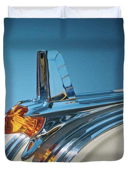 1953 Pontiac Hood Ornament Duvet Cover