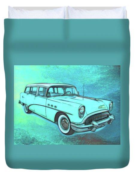 1954 Buick Wagon Duvet Cover