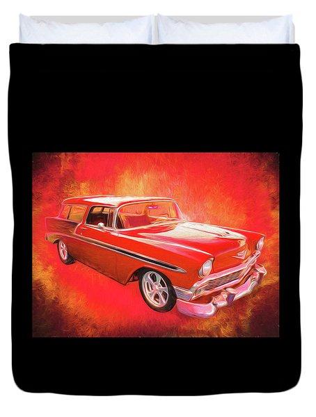 1956 Chevy Nomad Duvet Cover