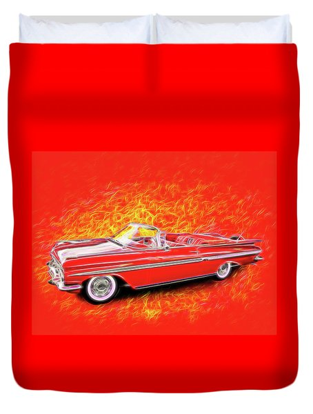 1959 Chevy Convertable Duvet Cover