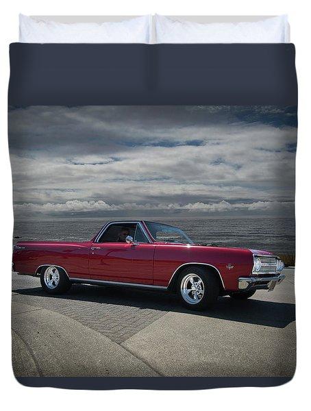 1965 Red El Camino Duvet Cover