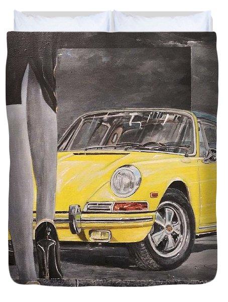 1968 Porsche 911 Targa Duvet Cover