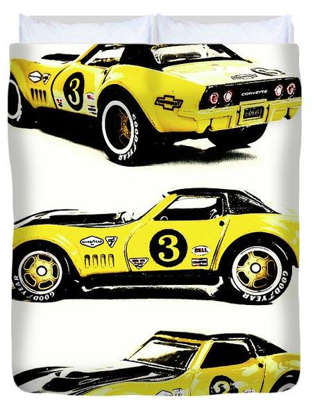 1969 Chevrolet Copo Corvette Duvet Cover