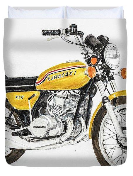 1972 Kawasaki 750 H2 Duvet Cover