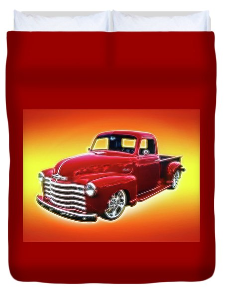 19948 Chevy Truck Duvet Cover