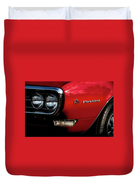 Duvet Cover featuring the photograph 1st Generation Firebird by Onyonet  Photo Studios