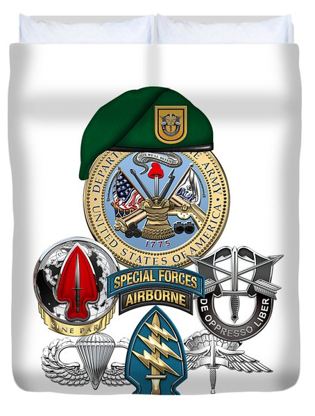 1st Special Forces Group - Green Berets Special Edition Duvet Cover