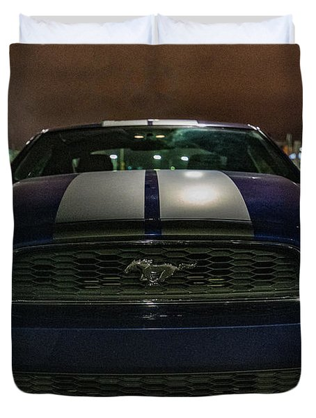 Duvet Cover featuring the photograph 2014 Ford Mustang by Randy Scherkenbach