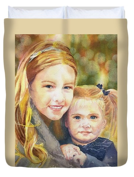 Belle And Maddie Duvet Cover