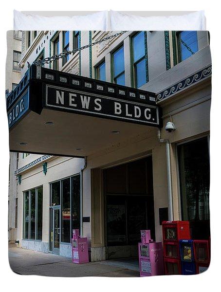 Broad Street Downtown Augusta Ga Duvet Cover