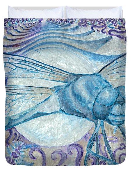 Dragonfly Moon Duvet Cover