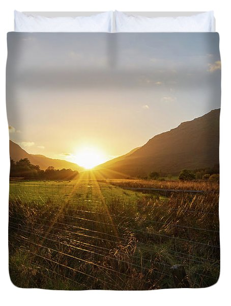 Glen Lyon Sunset Duvet Cover