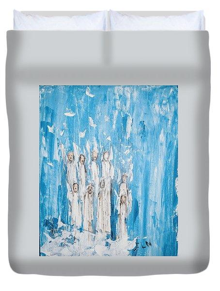 Heavenly Host Of Angels  Duvet Cover