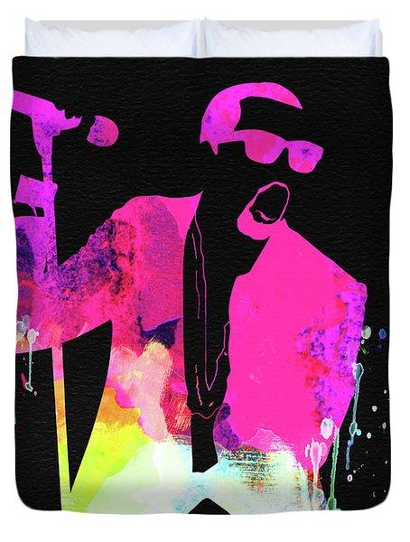 Kanye Watercolor Duvet Cover