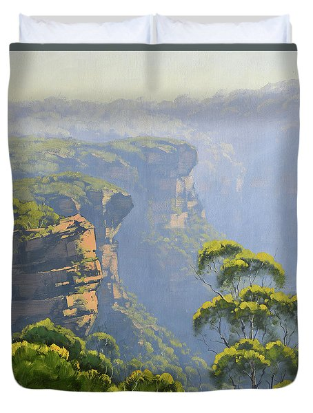 Katoomba Cliffs Duvet Cover