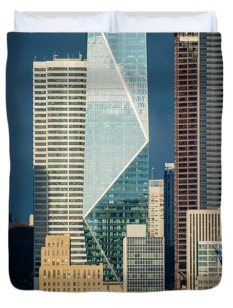 Modern Architecture In City, Seattle Duvet Cover