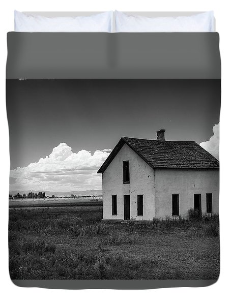 Old Abandoned House In Farming Area Duvet Cover
