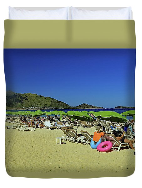 Duvet Cover featuring the photograph On The Beach by Tony Murtagh