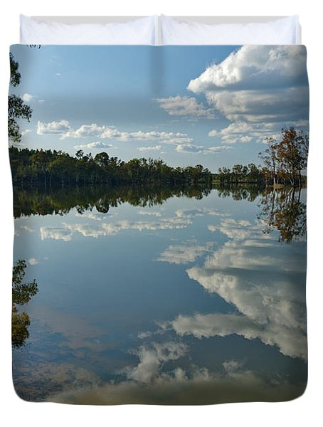 Reflections By The Lake Duvet Cover