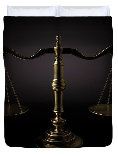 Scales Of Justice Dramatic Duvet Cover