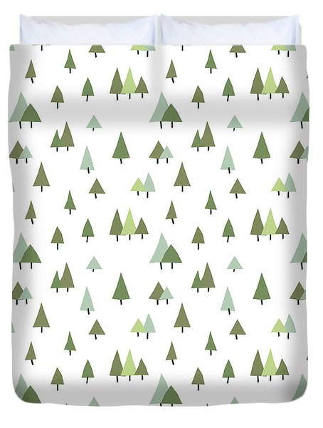 Seamless Forest Pattern Duvet Cover