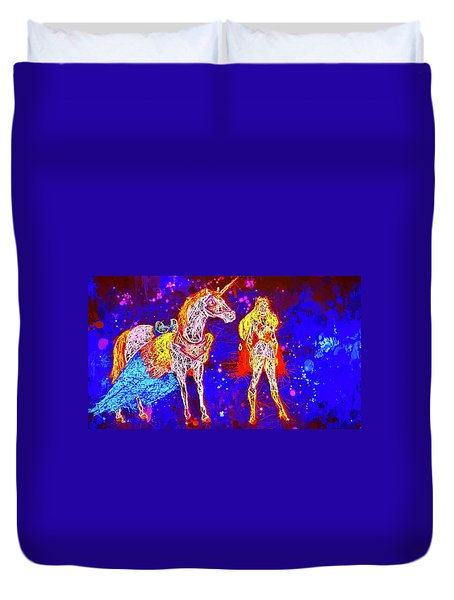 She - Ra And Swift Wind Duvet Cover