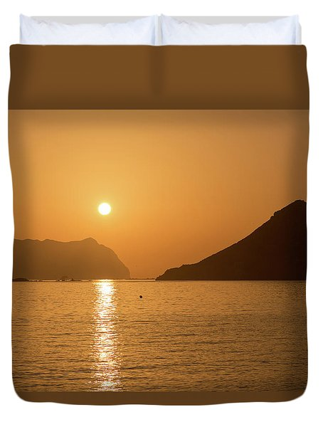 Sunrise On A Beach In Aguilas, Murcia Duvet Cover